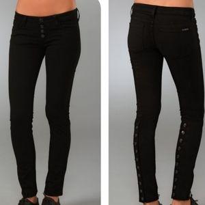 Hudson Jeans Black Skinny Jeans Size 30